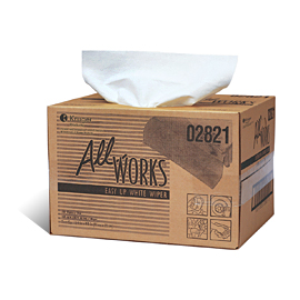 "* 02821  All -WORKS, Easy-up, White, 9.5""x16.5"" Wiper,"