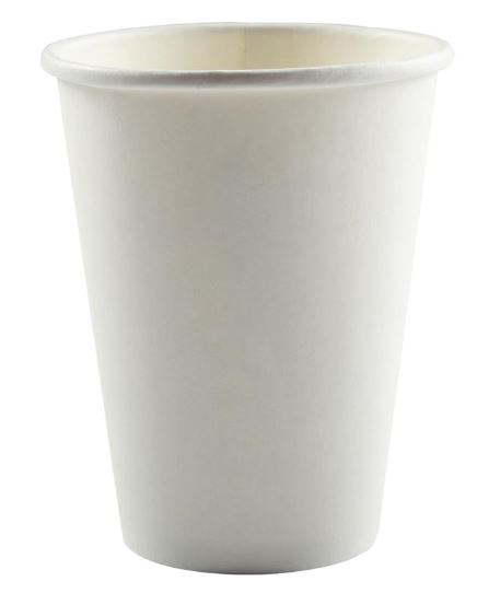 (!) HPE-HC12-SW-PLN CUP 12oz Paper Hot Drink White 1000/cs