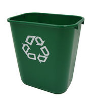 FG2956-06-GRN  GREEN Deskside Recycling Container, Medium
