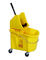 "* 35 Qt. Bucket/Wringer Combo with 3"" Casters YELLOW"