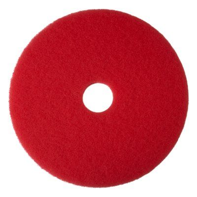 "17"" RED Buffing Pad, 5/cs"
