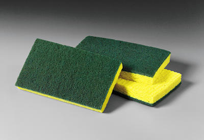 "MDSS20 SPONGE Scrubber 3.6""x 6"" Yellow & Green 20/cs"