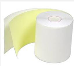 "AO2-21030 3x3""White/Yellow 2Ply AutoCopyTape 85'/rl"