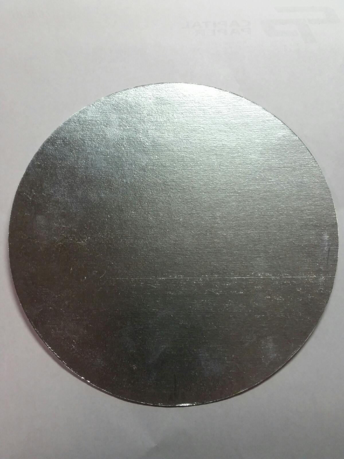 "* 51215LD LID 7"" Round Foil To Board 500/cs"