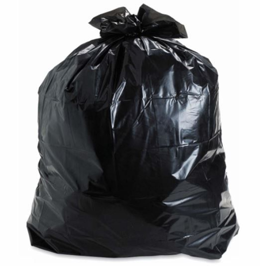 * B3038X4 GARBAGE BAG 30X38 4-Mil Black, 100/cs