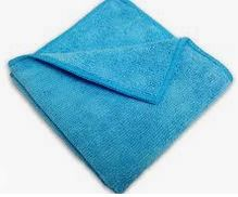 "Q605BL00 Microfiber Cloth   12""x12"" BLUE Standard 24/pk or"