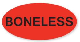 "* ""Boneless"" Oval Labels 1m/rl"
