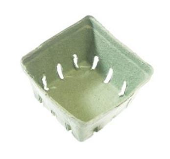 "44010 CONTAINER Pint  Berry Box Green 4.2""X 4.2""X"