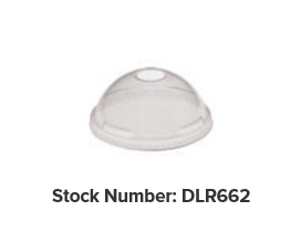 ( ! ) DLR662 LID Dome  w/Hole Clear 1000/cs