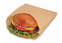 (!) 610206 BAG Sandwich Natural EcoCraft Greaseproof