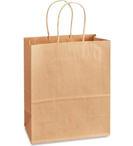 "(!) 87124 BAG Kraft Shopping w/Handle ""MISSY"" 10""x 5""x 13"""