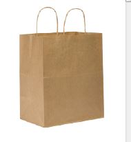 "(!) 87490 BAG Kraft Bistro w/ Handle 60lb 10""x"