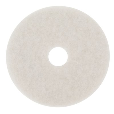 "19"" WHITE Super Polishing Floor Pad, 5/cs"