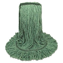 3092G Synthetic Looped End Wet Mop Narrow Band Green