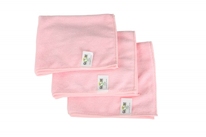 "3130P, PINK 16""x 16"" Microfiber Cloth, 1/EA or"