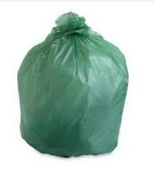 3550FV125 GARBAGE BAG 35x50 Strong Green, 125/cs