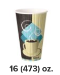 ( ! ) IC16-J7534 CUP 16oz DUO SHIELD Insulated Paper Hot