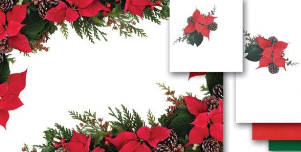 * 9NO-301-50, POINSETTIA PINES Combo, Placemats and 1ply