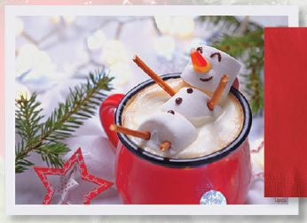 * 9NO-305-57 PLACEMAT Marshmallow Snowman 1000/case
