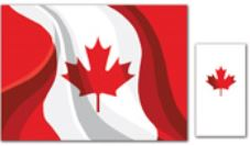 * 309-916 Canada Day Combo - Placemats/Napkins, 2 x 250/cs