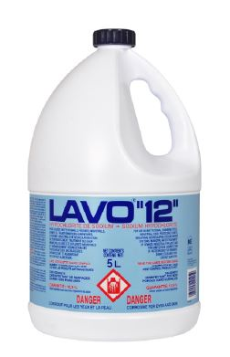 LAVO12 BLEACH Liquid 12% 3x5L/cs