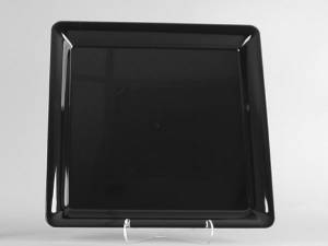 "MST14BK  13.9"" Black MILAN Large Square Tray (STY), 25/cs"