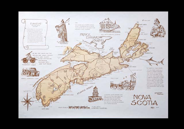DISC 305-041 PLACEMAT Nova  Scotia Design 1000/cs