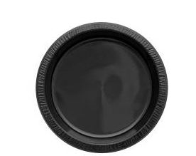 "* 61671 PLATE 9"" AVALON High Impact Black Plastic"