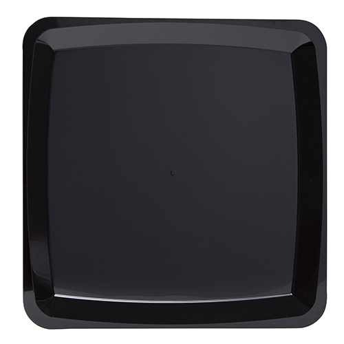 "MST16BK  15.8"" Black MILAN X-Large Square Tray (STY),"