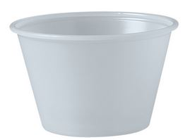 P400N PORTION CUP 4oz Translucent Plastic 2500/cs