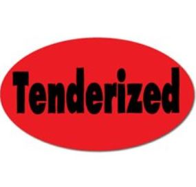* 0873, TENDERIZED Label, 1m/rl