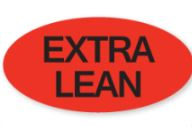 "* 0887, ""Extra Lean"" oval label, 1m/rl"