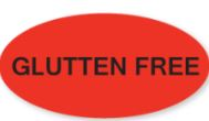 * 1426, Gluten Free Oval label, 1000/rl