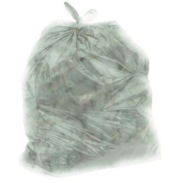 "2424T500 GARBAGE BAG 24x24 Regular ""TINTED"" Clear"