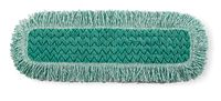 "Q426  24"" Microfibre Dry pad with Fringe (green)"