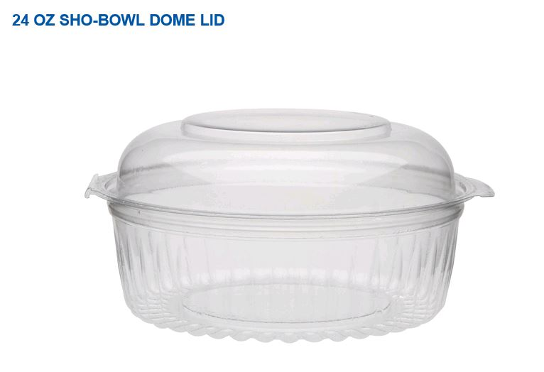 "10861 BOWL/ DOME COMBO 6""  Sho-Bowl W/ High Lid 150/cs (6"