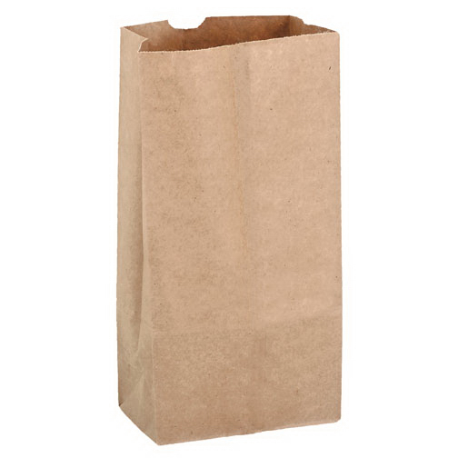 1000300C00 BAG PAPER 3lb Grocery Brown 500/bu