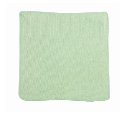 "Q605GR00 CLOTH Microfibre  Green 12""x 12""  24/pk or"
