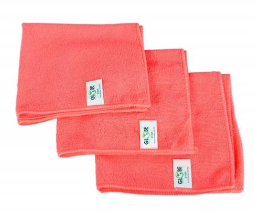 "* 3130R CLOTH Red 16""x 16"" Microfiber 1/EA or 200/cs"
