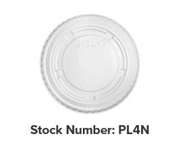 PL4N LID Plastic 2500/cs (Fits Portion Cup 3.25