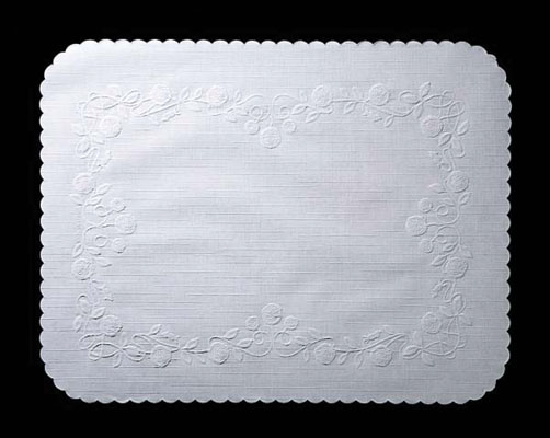 (!) 206-002 TRAY COVER  Seville Rose Nat. Embossed