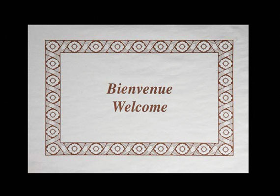 304-002 PLACEMAT Bienvenue / Welcome Brown 1000/cs