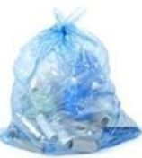 3550EFBL100 GARBAGE BAG 35x50 Extra Strong Blue, 100/cs