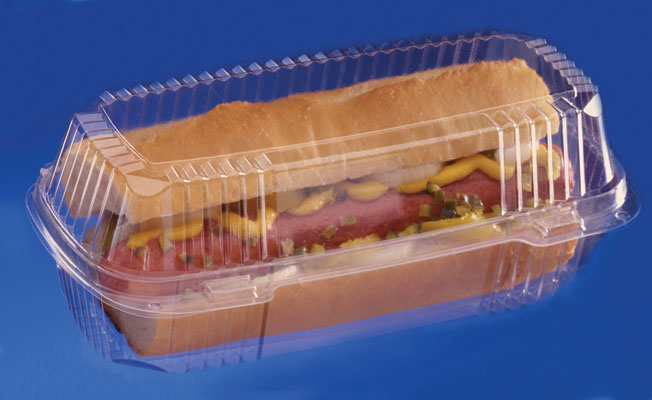 "* YCI8-1049 CONTAINER Hinged  9"" Clear Hoagie 250/cs"