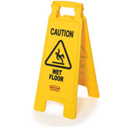 "RU6112-85 ""Caution Wet Floor"" Sign - Bilingual"